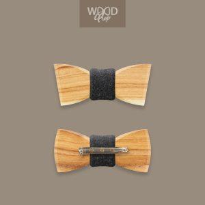 Holzfliege MINIs mit Stecknadel