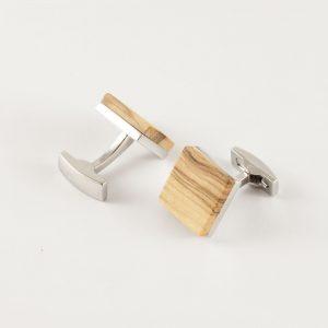"""Manschettenknöpfe aus Holz """"Square"""" groß"""